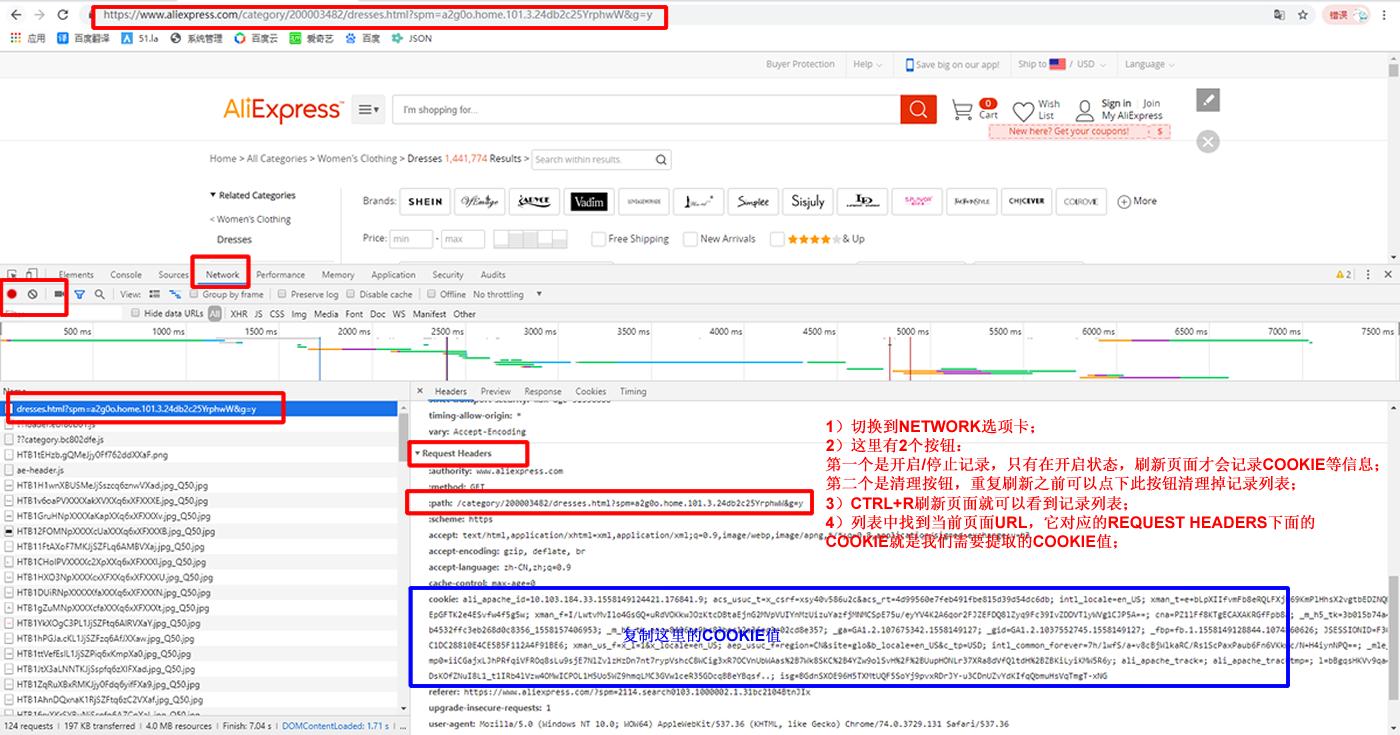 Google Chrome浏览器获取COOKIE方法